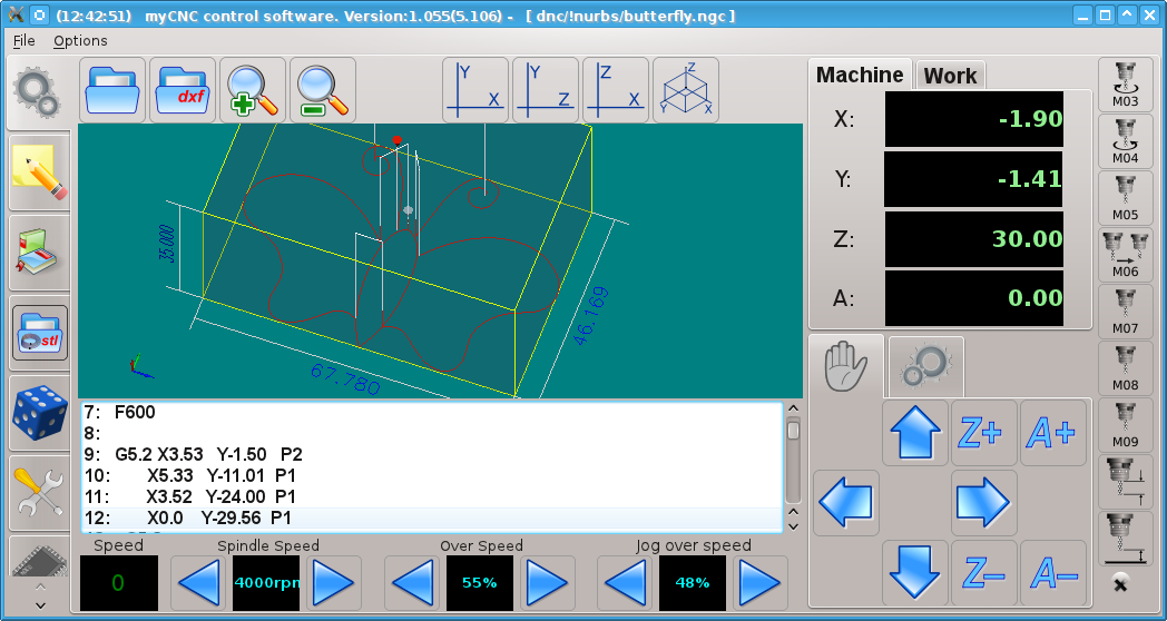 NURBS implementation in myCNC